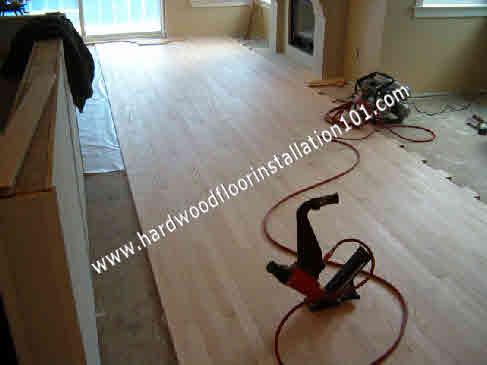 Engineered Hardwood Flooring Nail Down Installation Is The Easiest