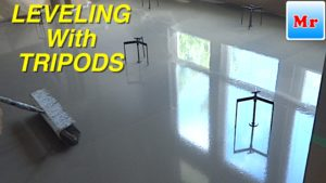 subfloor leveling tools - screed leveling tripods